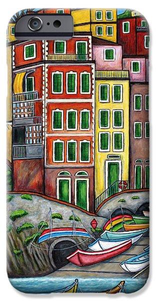 Colours of Riomaggiore Cinque Terre iPhone Case by Lisa  Lorenz