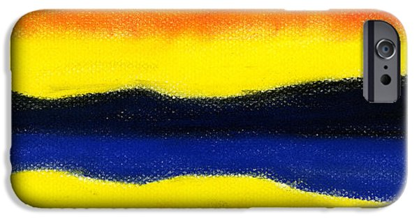 Expressionism Pastels iPhone Cases - Colours of Sky iPhone Case by Hakon Soreide