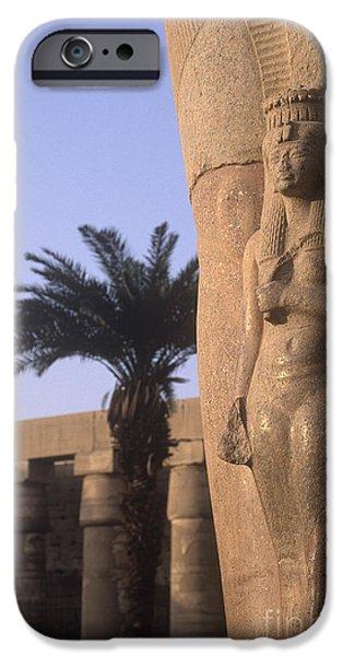 Karnak iPhone Cases - Column Relief at Karnak iPhone Case by Will & Deni McIntyre