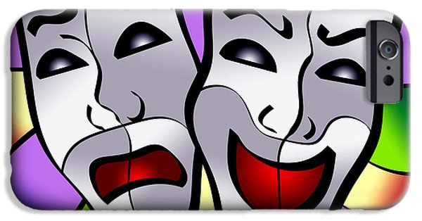 Applaud iPhone Cases - Comedy and Tragedy iPhone Case by Stephen Younts