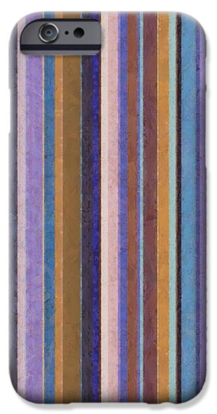 Comfortable Stripes ll iPhone Case by Michelle Calkins