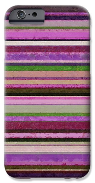 Comfortable Stripes lll iPhone Case by Michelle Calkins