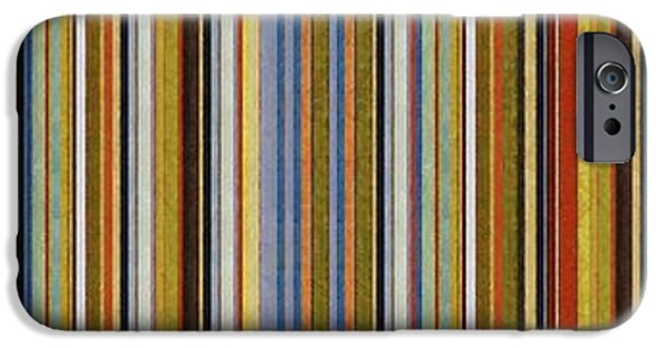 Rust iPhone Cases - Comfortable Stripes Vlll iPhone Case by Michelle Calkins