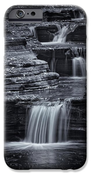 Watkins Glen iPhone Cases - Coming Down Gently iPhone Case by Evelina Kremsdorf