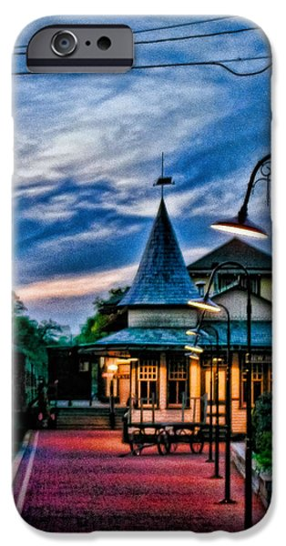 Night Lamp iPhone Cases - Coming Home iPhone Case by Colleen Kammerer