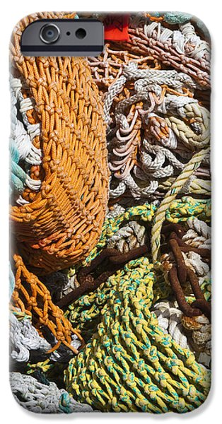 Commercial Fishing Nets and Rope iPhone Case by Paul Edmondson