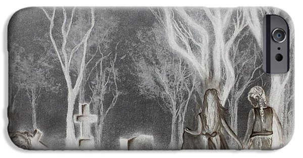 Cemetary iPhone Cases - Communion 2 iPhone Case by Carla Carson