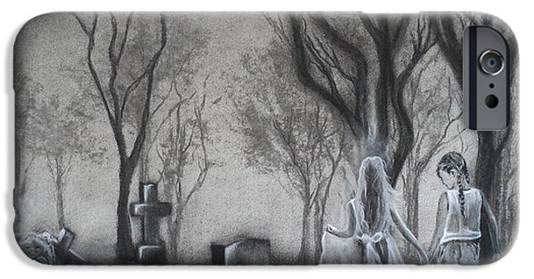 Cemetary iPhone Cases - Communion iPhone Case by Carla Carson