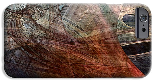 Abstracted Digital Art iPhone Cases - Complex Decisions iPhone Case by Ruth Palmer