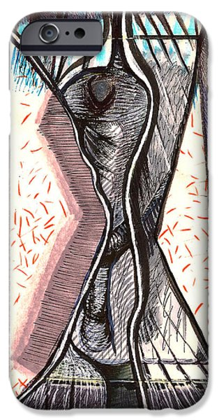 Lips iPhone Cases - Composition Two iPhone Case by Al Goldfarb