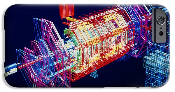 Virtual iPhone Cases - Computer Art Of Atlas Detector, Cern iPhone Case by David Parker
