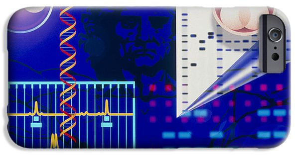 Dna Art iPhone Cases - Computer Artwork Depicting Embryo Paternity Test iPhone Case by Laguna Design