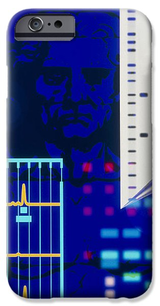 Computer Artwork Depicting Embryo Paternity Test iPhone Case by Laguna Design