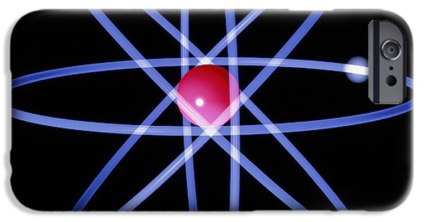 Atom Photographs iPhone Cases - Computer Artwork Of A Beryllium Atom iPhone Case by Laguna Design
