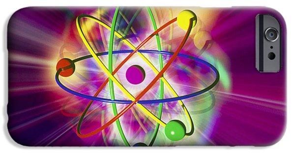 Atom Photographs iPhone Cases - Computer Artwork Of A Beryllium Atom iPhone Case by Mehau Kulyk