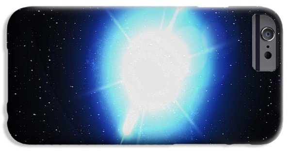 Gamma Ray Burst iPhone Cases - Computer Artwork Of A Gamma Ray Burst iPhone Case by Greg Baconnasa