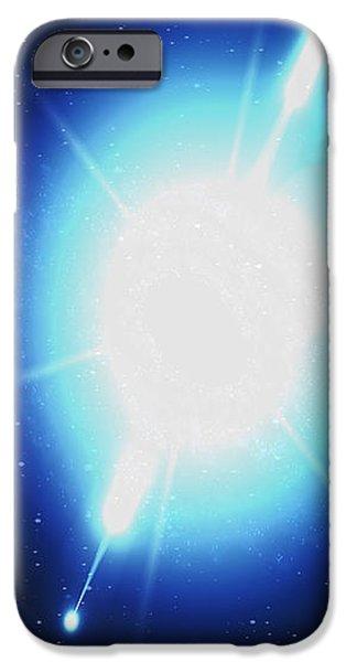 Computer Artwork Of A Gamma Ray Burst iPhone Case by Greg Baconnasa