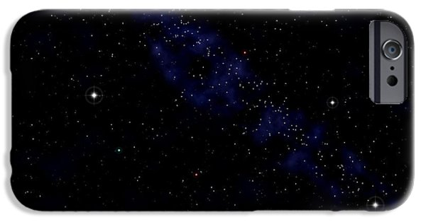 Starfield iPhone Cases - Computer Artwork Of A Starfield iPhone Case by Roger Harris