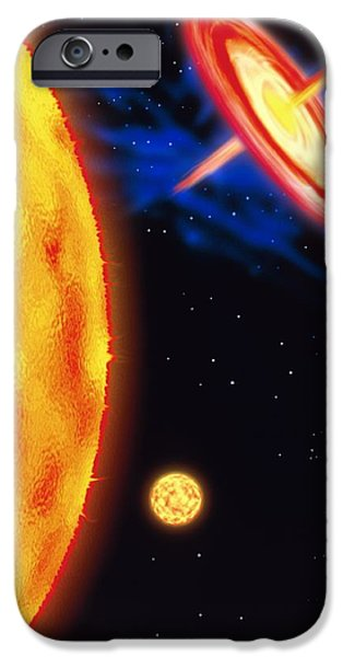 Jet Star iPhone Cases - Computer Artwork Of Stages In A Stars Life iPhone Case by Victor Habbick Visions