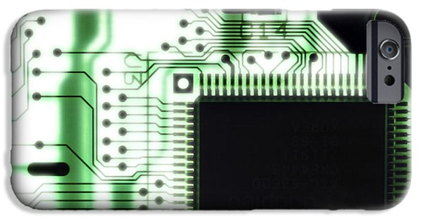 Non-integrated iPhone Cases - Computer Circuit Board iPhone Case by Tim Vernonlth Nhs Trust