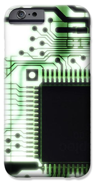 Computer Circuit Board iPhone Case by Tim Vernonlth Nhs Trust