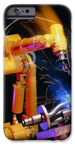 Computer-controlled Arc-welding Robot iPhone Case by David Parker, 600 Group Fanuc