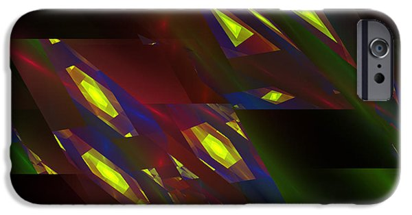 Geometric Effect iPhone Cases - Computer Generated Triangles Abstract Fractal Flame Abstract Art iPhone Case by Keith Webber Jr