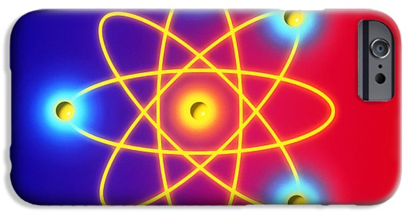 Atom Photographs iPhone Cases - Computer Graphic Of A Beryllium Atom. iPhone Case by Mehau Kulyk