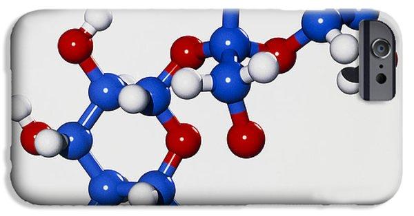 Molecular Graphic iPhone Cases - Computer Graphic Of A Molecule Of Sucrose iPhone Case by Laguna Design