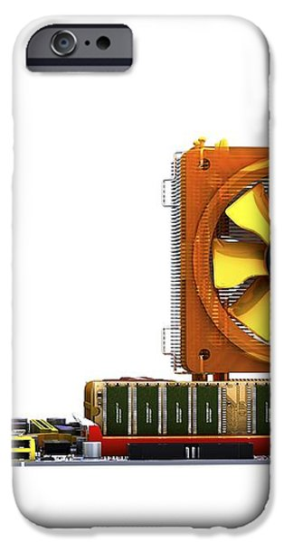 Computer Motherboard, Artwork iPhone Case by Pasieka