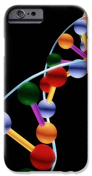 Bonding iPhone Cases - Computer Representation Of Dna iPhone Case by Pasieka