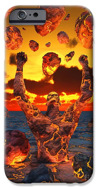 Raised Image iPhone Cases - Conceptual Image Based On The Biblical iPhone Case by Mark Stevenson