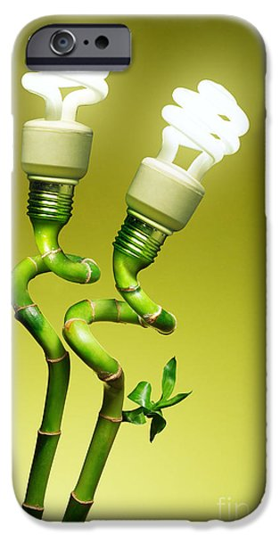 Bulb iPhone Cases - Conceptual lamps iPhone Case by Carlos Caetano