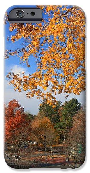 Concord Massachusetts in Autumn iPhone Case by John Burk