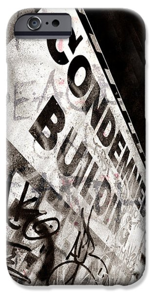 Condemned iPhone Cases - Condemned Building iPhone Case by Tara Turner