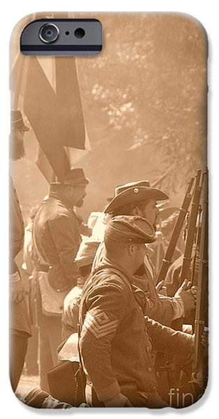 Civil War Re-enactment iPhone Cases - Confederate Breastworks Carnifex Ferry iPhone Case by Thomas R Fletcher