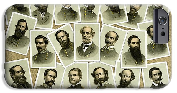 American History Mixed Media iPhone Cases - Confederate Commanders of The Civil War iPhone Case by War Is Hell Store