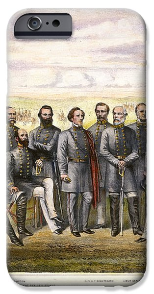 CONFEDERATE GENERALS iPhone Case by Granger