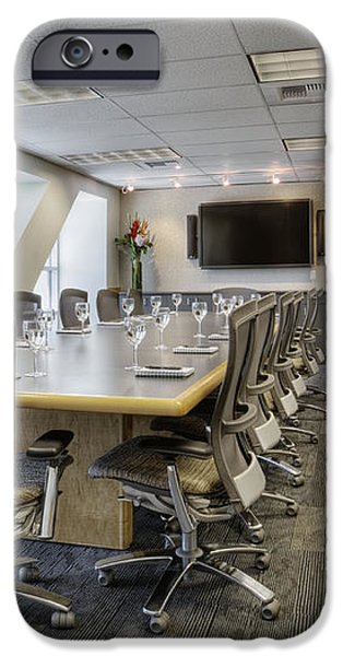 Conference Table and Chairs iPhone Case by Andersen Ross