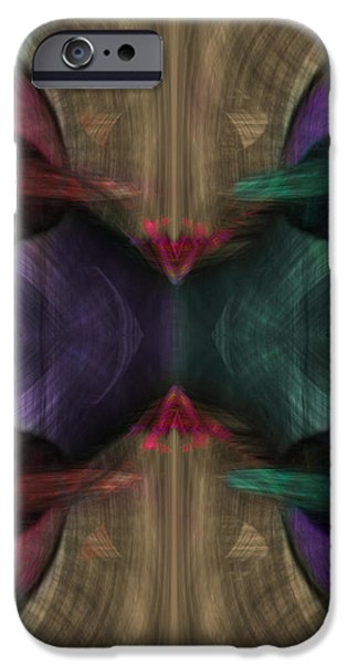 Conjoint - Multicolor iPhone Case by Christopher Gaston