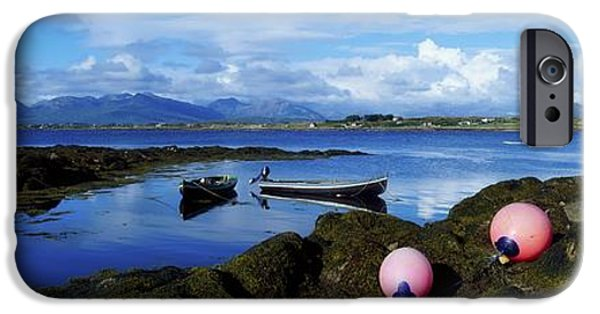 Mountain iPhone Cases - Connemara From Roundstone, Twelve Bens iPhone Case by The Irish Image Collection