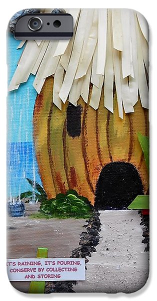 Rain Barrel iPhone Cases - Conserve iPhone Case by Jamie Frier