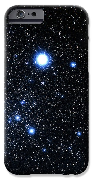 Stellar iPhone Cases - Constellation Canis Major With Halo Effect iPhone Case by John Sanford