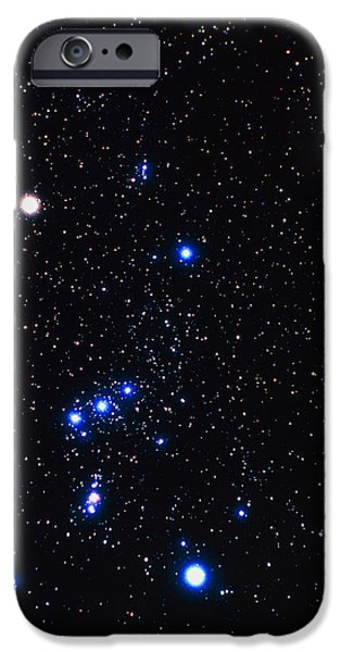 Constellations iPhone Cases - Constellation Of Orion With Halo Effect iPhone Case by John Sanford