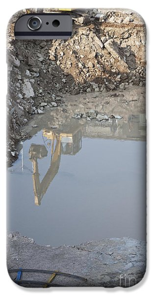 Building Site iPhone Cases - Construction Site iPhone Case by Shannon Fagan