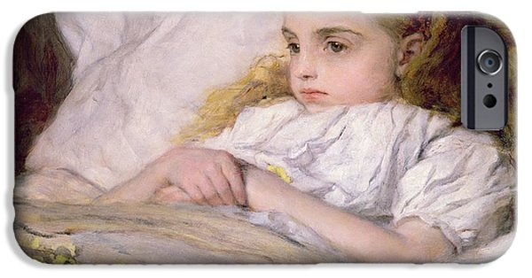 Sickness iPhone Cases - Convalescent iPhone Case by Frank Holl