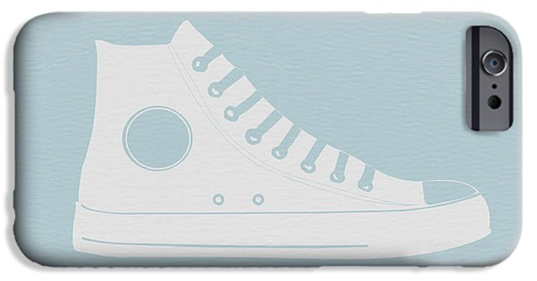 Shoes iPhone Cases - Converse Shoe iPhone Case by Naxart Studio