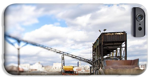 Conveyor Belt iPhone Cases - Conveyor and Truck at Sorting Dock iPhone Case by Eddy Joaquim