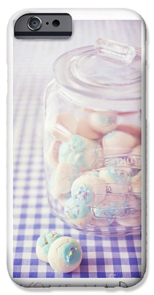 Cookie iPhone Cases - Cookie Jar iPhone Case by Priska Wettstein