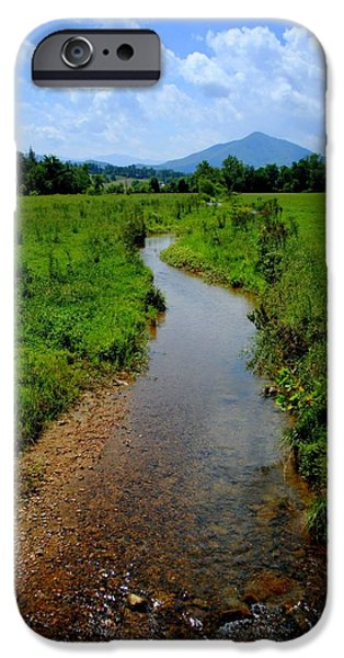 Cool Mountain Stream iPhone Case by Frozen in Time Fine Art Photography